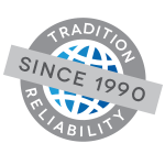 TRADITION<br/>&#038; RELIABILITY SINCE 1990